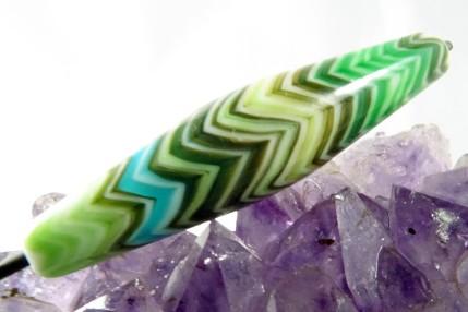 dégradé de couleurs vert technique du rateauperles de verre