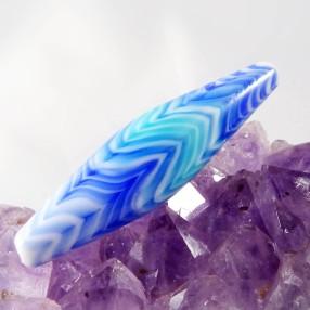 Perles de verre dégradé de bleu tehcnique du rateau technique dégradé