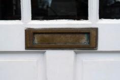 Boite au ettre anglaise porte anglaise laiton english white door mail box vintage