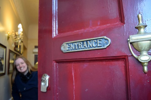 Entrance English Door Bank House Hotel Uttoxeter