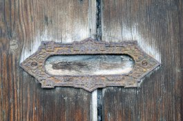 Vintage old antique wood english door decoration name uttoxeter englad uk