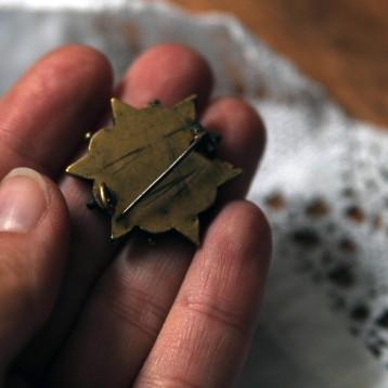 Broche micro mosaique époque victorienne smalti filati