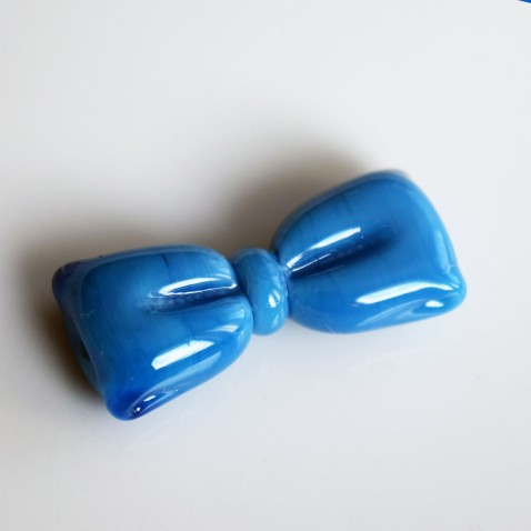Ornela Preciosa Turquoise Foncé 6316 AGE du Verre perle de verre noeud Nathalie Crottaz
